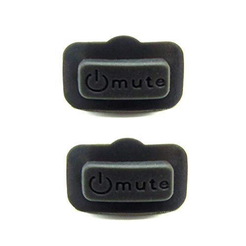 - Rhinos Wireless System Rubber Mute Switch Button Compatible for Shure PGX2,2 Pack