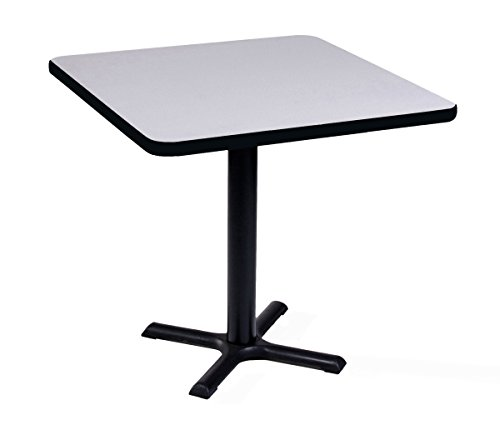 Correll BXT42S-15 Gray Granite Top and Black Base Square Bar, Caf and Break Room Table, 42