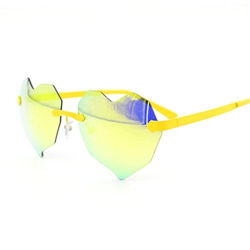 Sin Rosado Gafas Sol GUO Gafas de de Bastidor Corazon B Moda 4qzx6gn