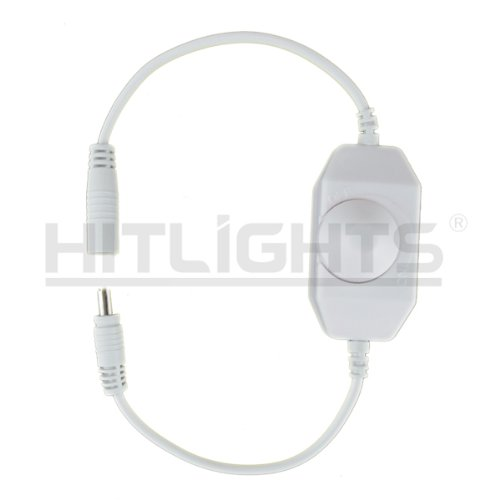 HitLights LED Strip Light Mini Dial Dimmer, White