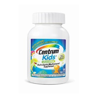Centrum Kids Chewables Multivitamin/Multimineral Tablets, 80 count (Pack of 3) For Sale