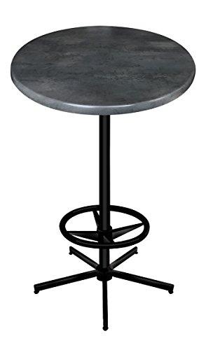 (Holland Bar Stool Co. OD21642BWOD36RBlkStl OD216 Outdoor Table, Black)