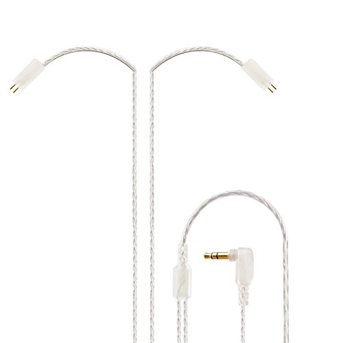 Easy KZ ZS3 ZS5 0.75mm 2 pin Upgrade Silver Plate Replacement Earphones Cable for KZ Earphones (silver)