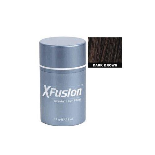 XFusion Keratin Hair Fibers Regular, Dark Brown 0.42 Ounces XFD