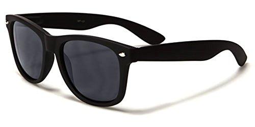 Unbranded - Lunettes de soleil - Homme Noir BLACK MATTE/SMOKE LENSES