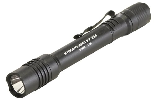 """Streamlight 88033 Protac Tactical Flashlight 2AA with White LED Includes 2 """"AA"""" Alkaline Batteries and Holster, Black, Outdoor Stuffs"""