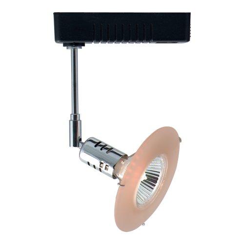 Jesco Lighting LLV80650PK/CHBK Mini Deco Series Low Voltage Track Head for L 2-Wire Single Circuit Track System, Pink/Chrome/Black