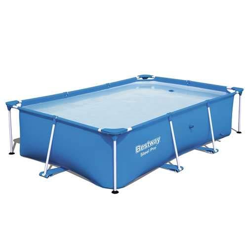 Bestway Steel Pro 102 x 67 x 24 Rectangular Frame Above Ground Swimming Pool