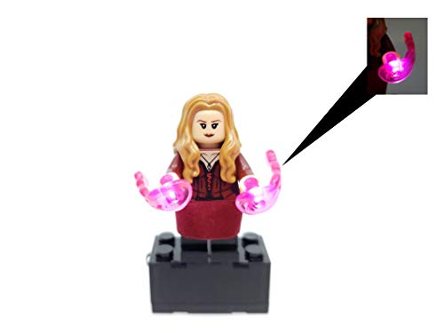 3110Gnm8q2L BlingBlingBrick - Scarlet Witch Wanda Minifigure with LED Light Up Chaos Magic