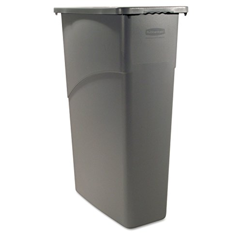 Rubbermaid Slim Jim Waste Container, 87 L - Grey (Waste Containers Rubbermaid)