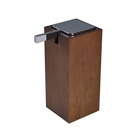 Gedy Papiro Tall Square Brown Soap Dispenser in Wood, Brown Gedy by Nameek's Gedy PA80-31