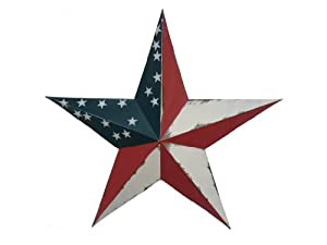 CWI Gifts Americana Metal Barn Star Wall Decor, 18-Inch