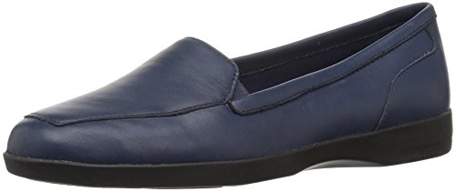 Easy Spirit Women's Devitt Oxford Flat, Blue, 10 W US by Easy Spirit