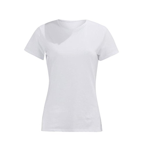 Col T Blanc Slim Blouse Lovers Courtes Couple Amoureux Élastiques Couleur Pure shirt Rond Lettre Chemise Adeshop Tops Imprimer Manches qSAXw55