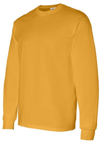 Gold T-shirt (Gildan Mens 5.3 oz. Heavy Cotton Long-Sleeve T-Shirt G540 -GOLD L)