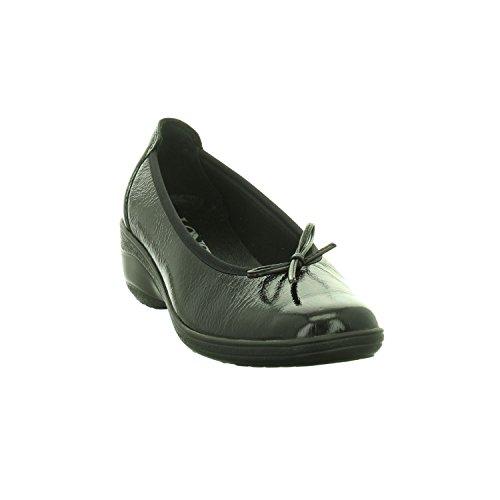 LONGO Women's 1005683 Ballet Flats Black 5PHfiHD