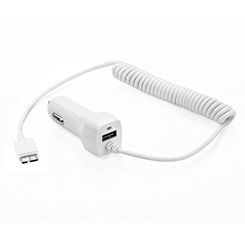 OmniINC Rapid Retractable Dual Car Charger with Extended 1.3