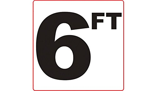6 FT 3M Adhesive Depth Marker 6 Inch x 6 Inch with 4 Inch Lettering by Aquatic Technology