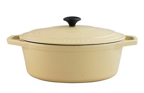 Chasseur Cast Iron 31cm, 4.8ltr Oval Cream (Chasseur Cast Iron Casserole)