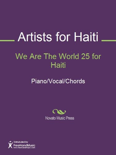 We Are The World 25 For Haiti Sheet Music Pianovocalchords