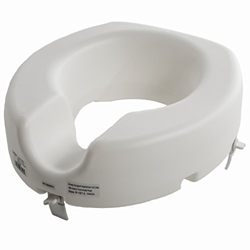 PCP High Profile Universal Raised Toilet Seat, White, 5 (Raised Toilet Seat Handles)