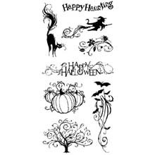 Cats and Bats Halloween Clear Stamp -