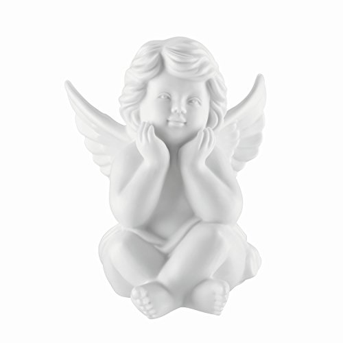- Bavaria Angel Sitting Thinking made of Biscuit China, 4.33 '' Height, White and Matt, in Rosenthal Quality, Delivered in a Gift Box