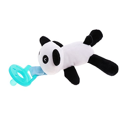 Dolity Feeding Nipples Holder Baby Pacifier Clip Plush Toys Infant Child Soother - Panda, as described from Dolity