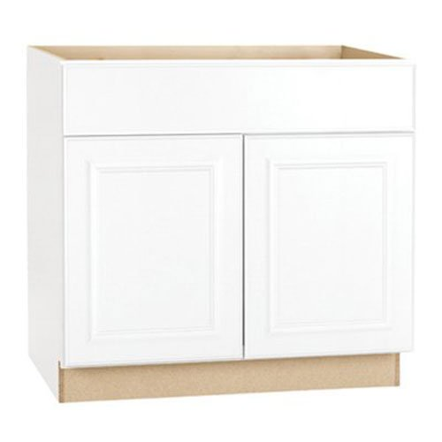 RSI HOME PRODUCTS SALES CBKB36-SW White Finish Assembled Base Cabinet, 36' by 34.5' by 24'