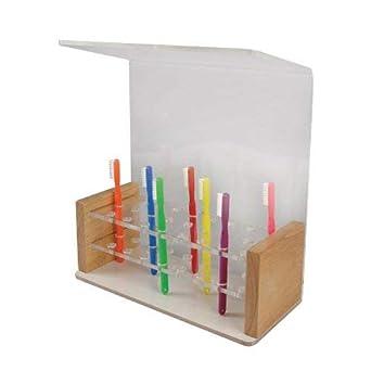 Amazon.com: AULA de madera cepillo para polvo de dientes ...