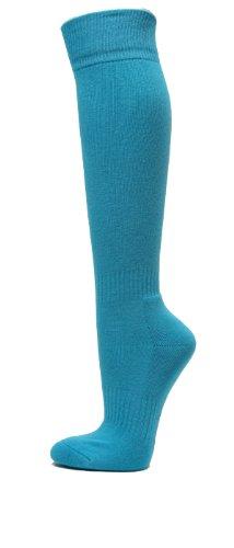Youth/Kids Knee High Sports Athletic Baseball Softball Socks, SKY BLUE, Youth Small