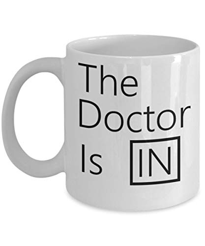 The Doctor Is In 11 oz Coffee Mug.Medical Doctors Psychiatrist Lucy From Peanuts
