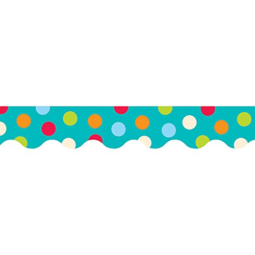 Turquoise Dot - Creative Teaching Press Dots on Turquoise Border (1038)