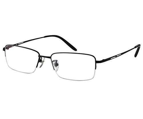 EyeBuyExpress Men Women Reading Glasses Black Anti Reflective Titanium +2.00 by EyeBuyExpress