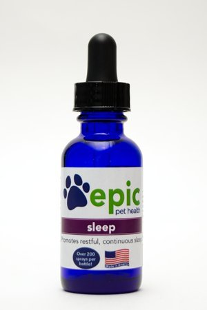 Epic Pet Health Sleep - Encourages Restful, Continuous Sleep Naturally, Made in USA (Dropper, 1 Ounce)