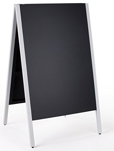 24 x 36 Write-on Sidewalk Sign, Double-Sided, Wooden A-Frame - Black Chalkboard Surface with White Trim supplier