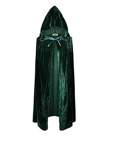 Creative Home Supplies Dark Green Cosplay Costumes Cloak Halloween Long Wizard Witch Cloak Halloween Cosplay Outerwear Deserve to Buy ()