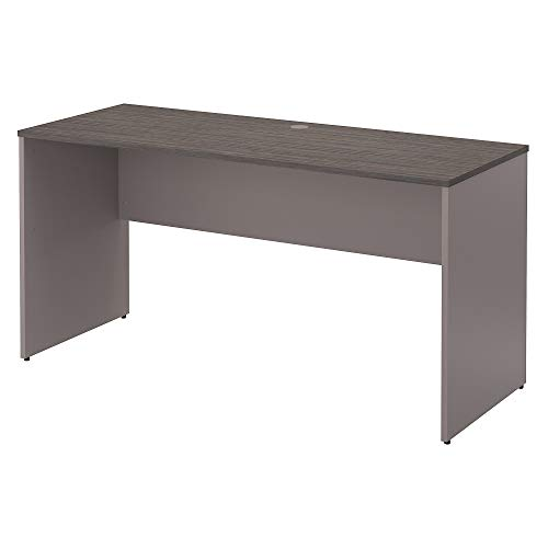 - Bush Furniture Commerce 60W Credenza Desk in Cocoa and Pewter
