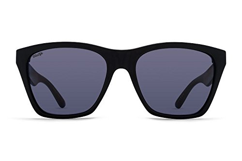 VonZipper Adults Booker Polarized Sunglasses, Black Gloss/Wild Vintage Grey Lens One - Superstore Sunglasses Optical