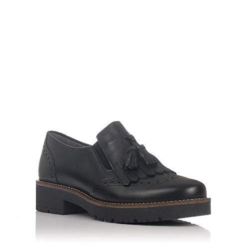 Noir de 5391 Femme à PITILLOS Lacets pour Ville Chaussures fZH8xn8q