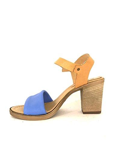 ZETA SHOES - Sandalias de vestir de Piel para mujer turquesa