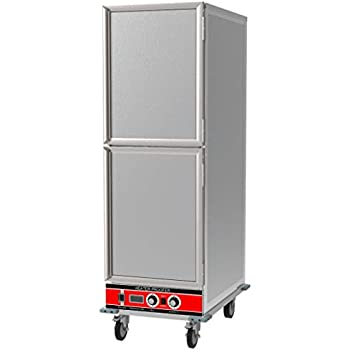Chef's Exclusive CE803 Heater Proofer Holding Cabinet Insulated Two Solid Split Half Dutch Doors 1500 Watts Commercial Full Size Holds (35) 18in x 26in Sheet Pans Forced Air Heating, 22.8in Wide