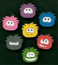 SPECIAL Pricing on Disney Club Penguin Puffle Pins Set - All 7 Pin Colors - GREAT Gift and Party Item by Club Penguin