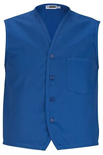 Edwards Apron - Edwards Apron Vest with Breast Pocket Small Royal