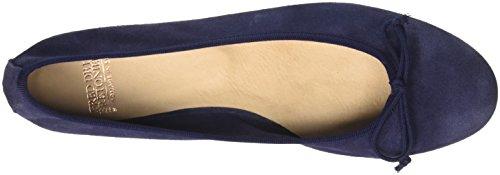 Cobalt Blue Ballerine de 8065 la Chiusa Fred Bretoniere Punta Leder Donna Blu S4qRzxwC