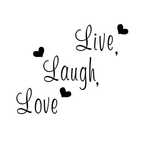 Creatiee Live Laugh Love Quote Wall Decal Sticker, Removable DIY Vinyl Wall Decor Art Mural for Thanksgiving Kitchen Table Home Décor - Embellishment & Home Warming Gift ()