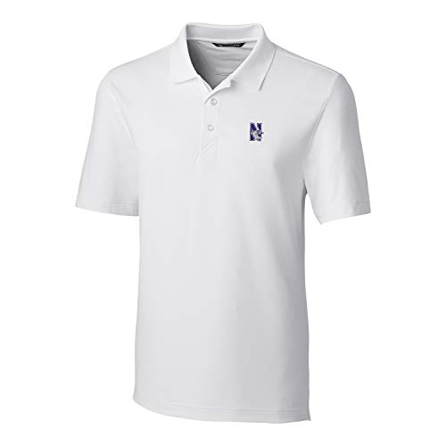 Cutter & Buck NCAA Northwestern Wildcats Mens Short Sleeve Forge Polo, White, XXX-Large,