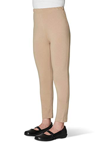 French Toast Ankle Length Legging Girls, Khaki, 2T