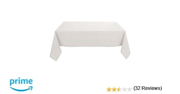 Deconovo Mantel para Mesa Rectangular de Comedor 130 x 220 cm Blanco Marfil: Amazon.es: Hogar