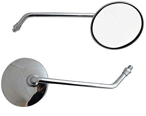 8mm Universale Coppia Rotondo Cromato Scooter Motorino Specchietti